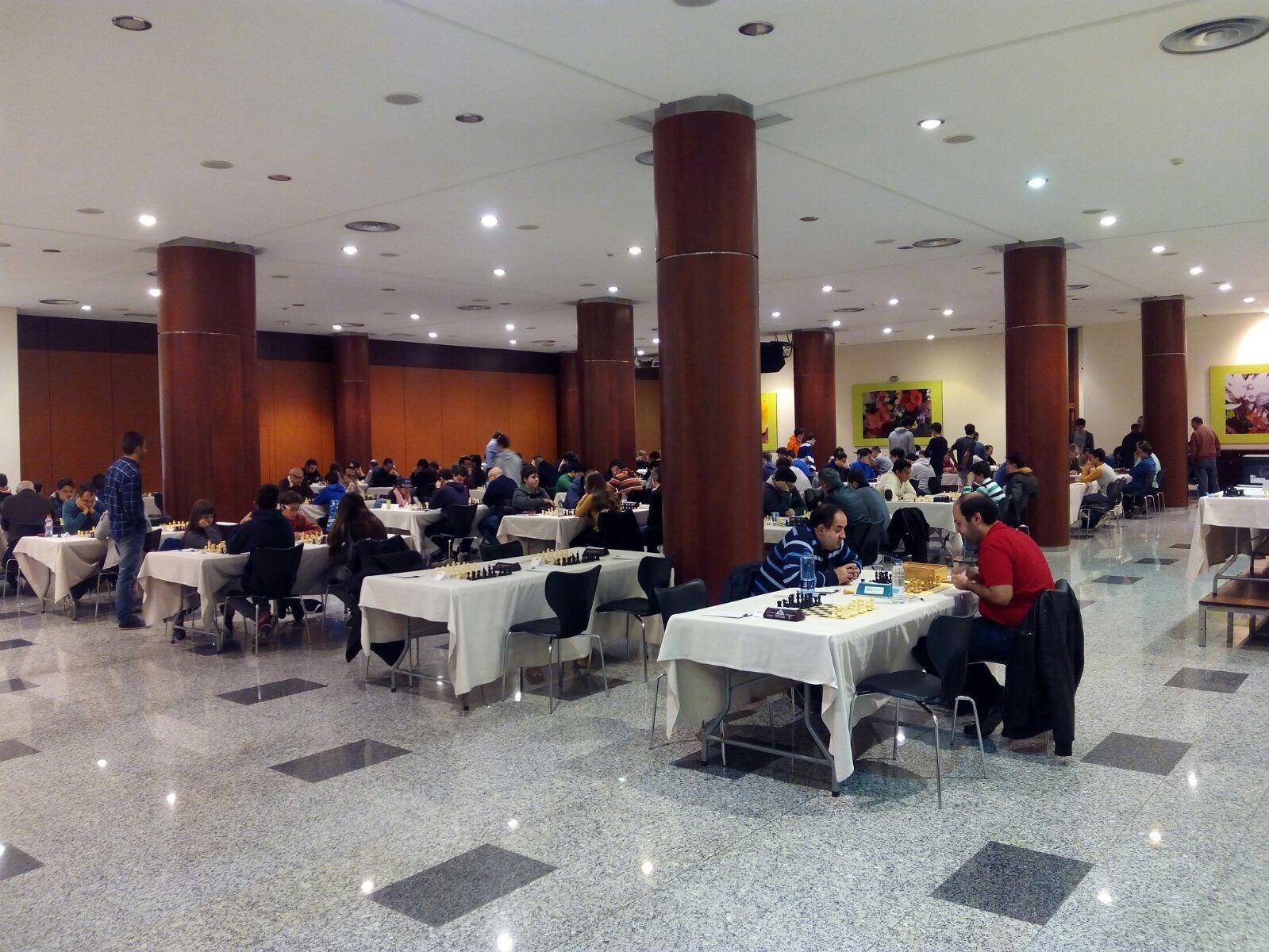Sala de juego del torneo