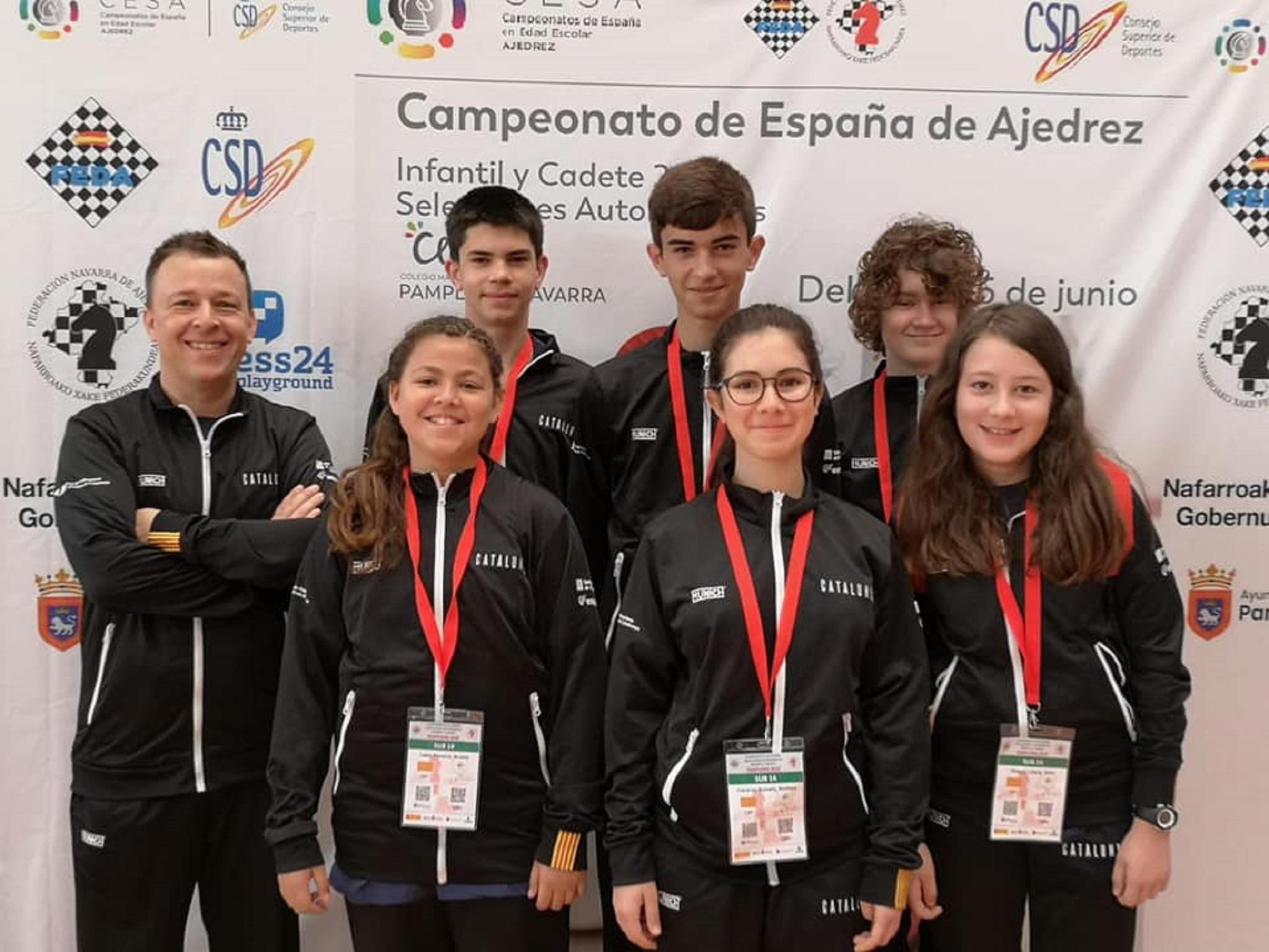 El equipo catalán sub14