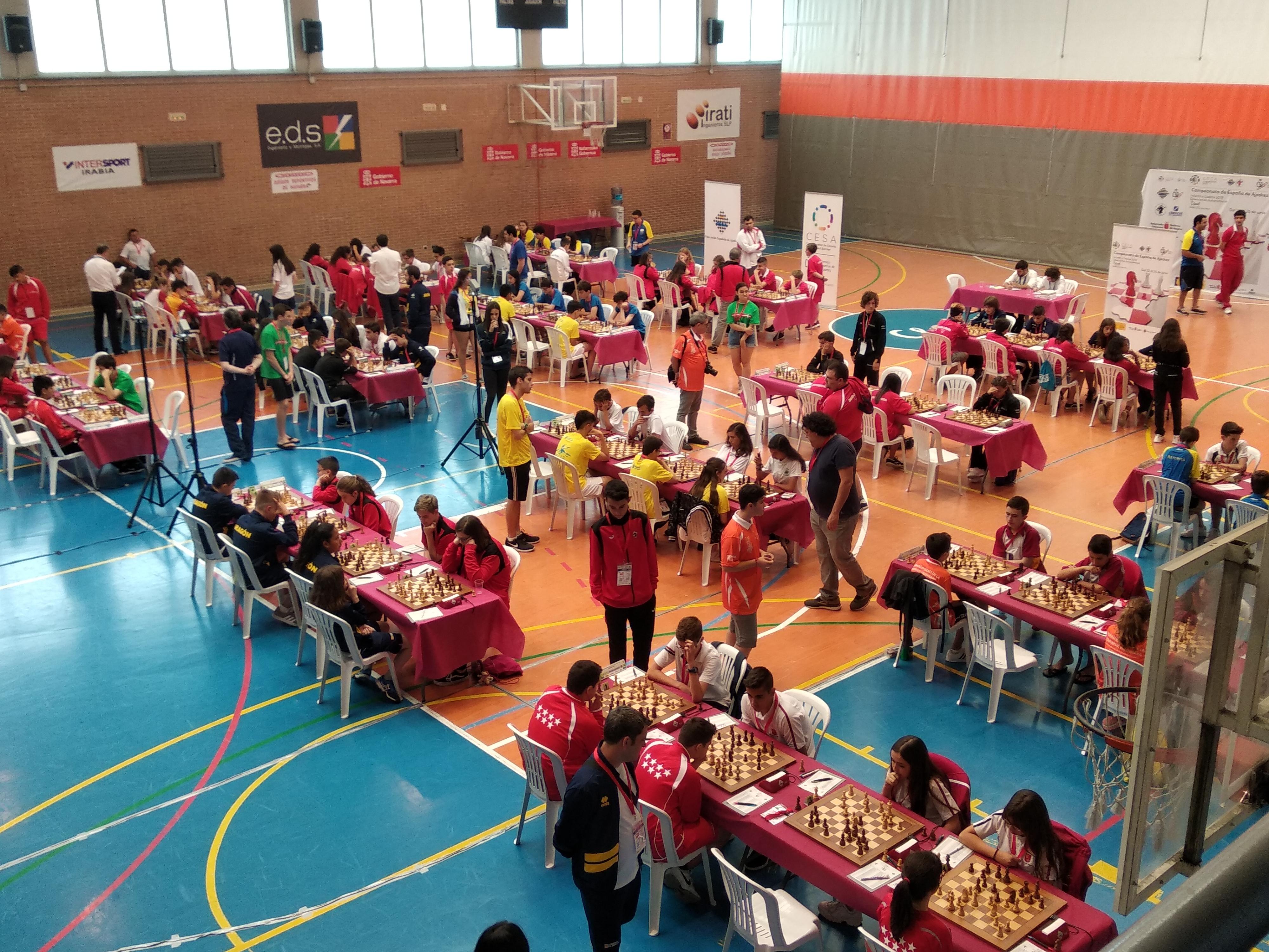 Sala de juego del Campeonato de España